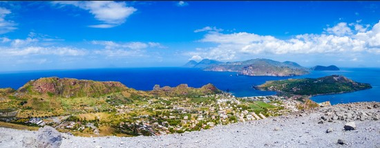 Yacht charter Sicily - viiew aeolian islands