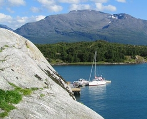 Norway - charter yacht in a fjord