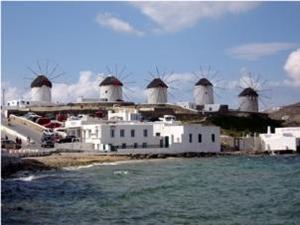 Griechenland Kycladen Windmühlen
