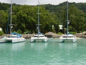 Seychellen_Katamaran_Flotte