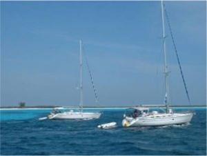 Fondeando al ancla - Cuba - Cayo Largo